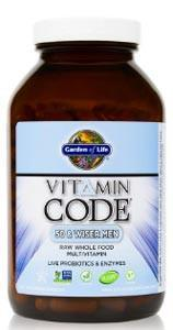 Garden of Life Vitamin Code RAW Men's Multivitamin 50 & Wiser