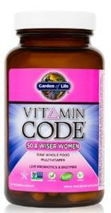 Garden of Life Vitamin Code RAW Women's Multivitamin 50 & Wiser