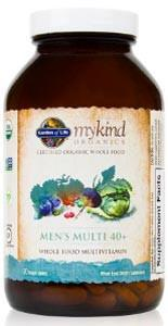 Garden of Life mykind Organics Men's Multivitamin 40+
