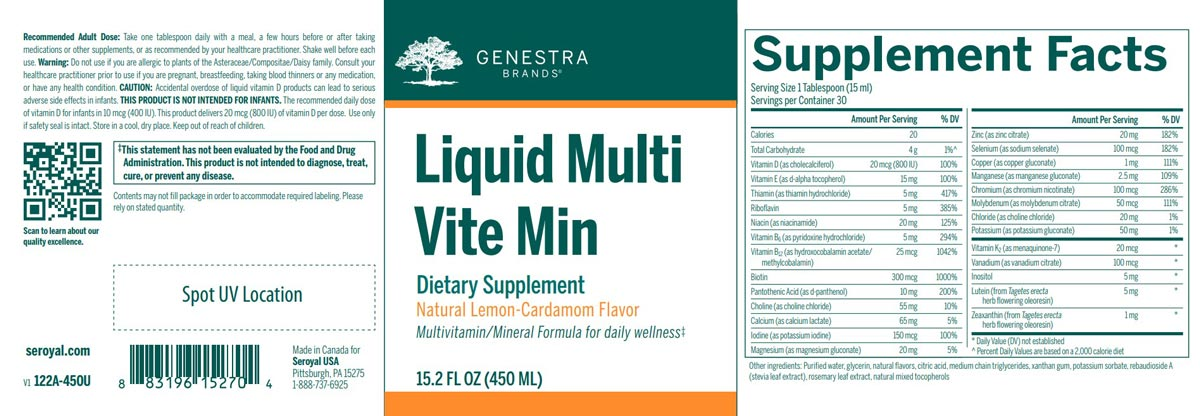 Genestra Brands Liquid Multi Vite Min