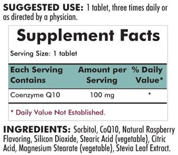Kirkman Coenzyme Q10 100mg Chewable Tablets (with Stevia)