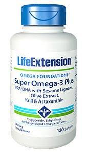 Life Extension Super Omega-3 Plus EPA/DHA with Sesame Lignans, Olive Extract, Krill & Astaxanthin