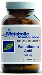 Metabolic Maintenance Pantothenic Acid
