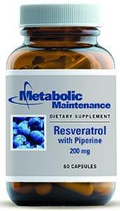Metabolic Maintenance Resveratrol with Piperine