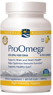 Nordic Naturals® ProOmega in Fish Gelatin - 60 count