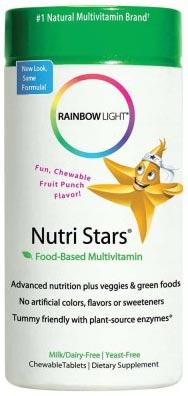 Rainbow Light Nutri Stars Chewable Multivitamin