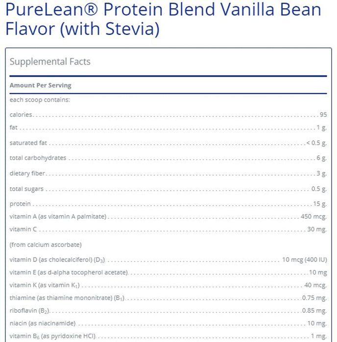 Pure Encapsulations PureLean® Protein Blend Vanilla Bean Flavor (with Stevia)