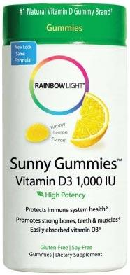 Rainbow Light Sunny Gummies Vitamin D3 1,000 IU