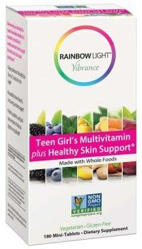 Rainbow Light Vibrance Teen Girl's Multivitamin plus Healthy Skin...