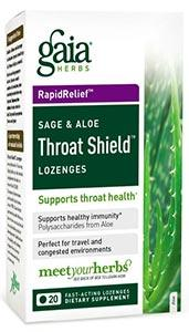 Gaia Herbs Throat Shield Lozenges