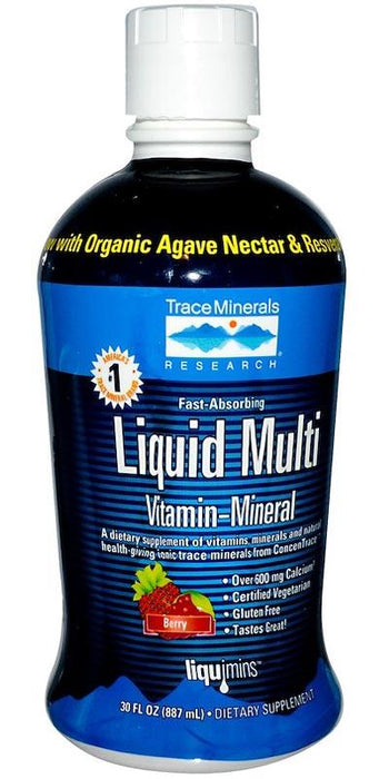 Trace Minerals Research Liquid Multi Vitamin-Mineral Berry