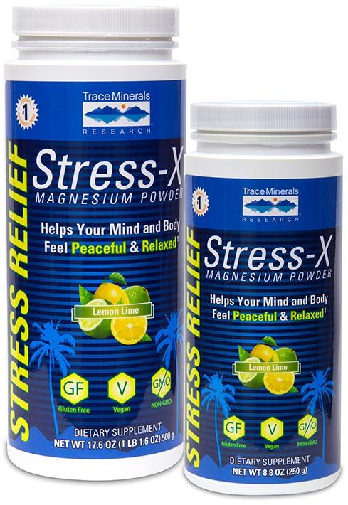 Trace Minerals Research Stress-X Magnesium Powder Lemon Lime