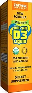 Jarrow Formulas Yum Yum D3 Liquid 200 IU/Drop