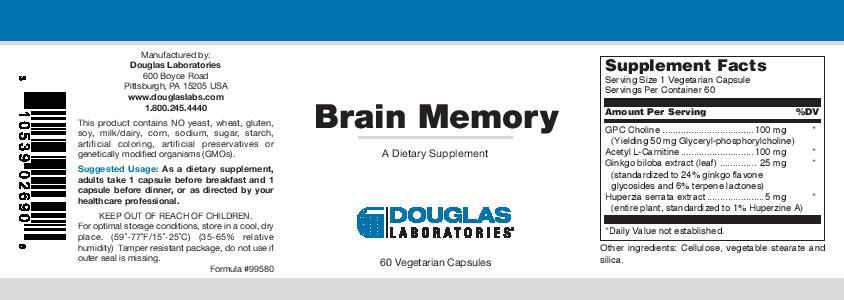 Douglas Laboratories Brain Memory