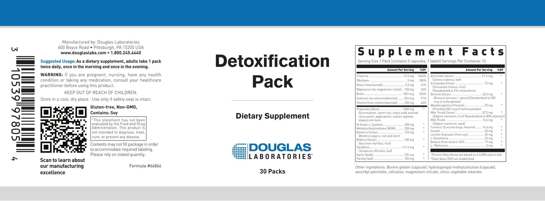 Douglas Laboratories Detoxification Pack