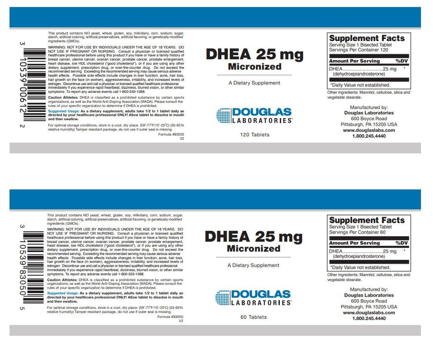 Douglas Laboratories DHEA 25mg