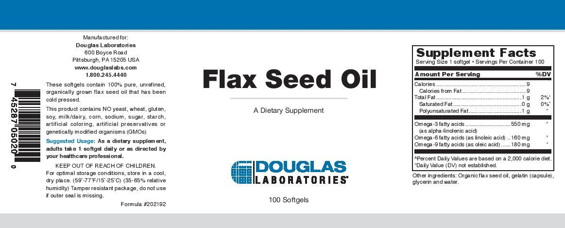 Douglas Laboratories Flax Seed Oil Softgels