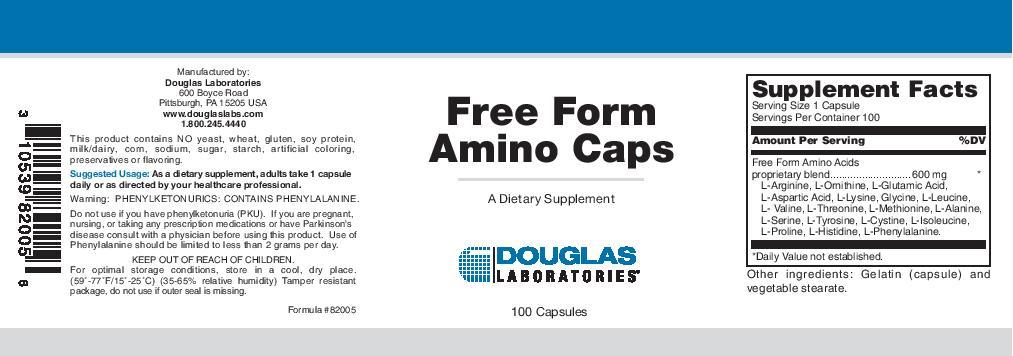 Douglas Laboratories Free Form Amino Caps