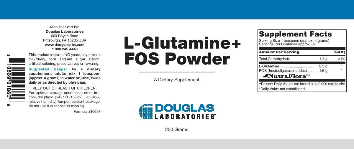Douglas Laboratories L-Glutamine + FOS Powder