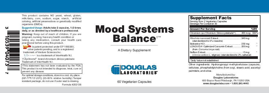 Douglas Laboratories Mood Systems Balance