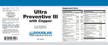 Douglas Laboratories Ultra Preventive III with Copper Tablets