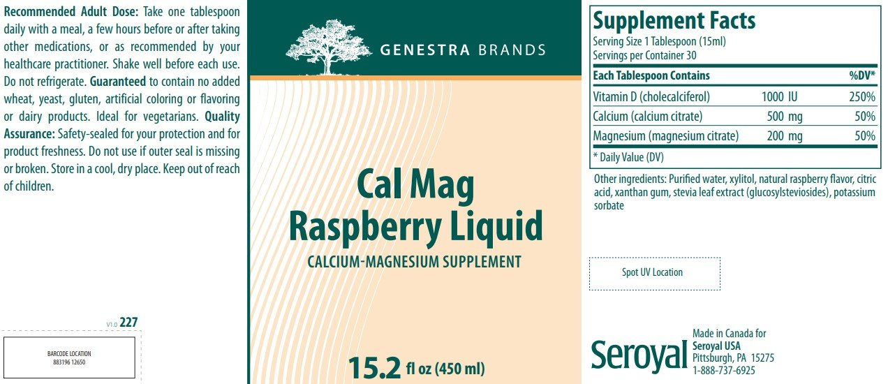 Genestra Brands Cal Mag Raspberry Liquid