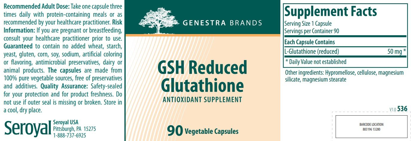 Genestra Brands GSH Reduced Glutathione