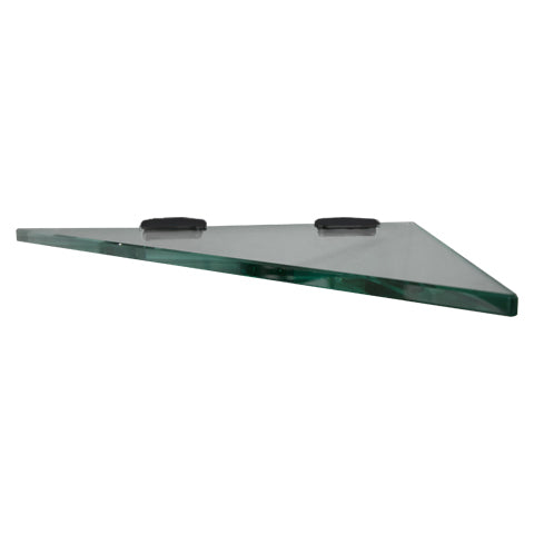 LUXURY 10MM GLASS SHELVES - 4 STYLES BLACK BRACKETS