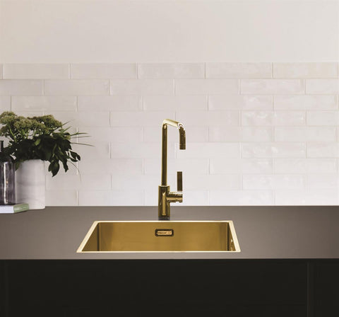 MERCER ELITE PVD SINK INSERT 400X400X200 BRASS