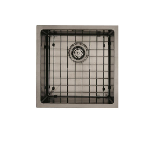 MERCER ELITE PVD SINK INSERT 400X400X200 GUN METAL