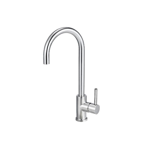 MERCER ELITE PVD GOOSENECK SINK MIXER – STAINLESS