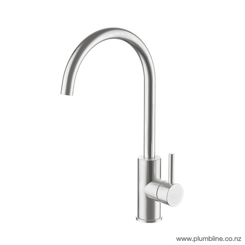SWISS KITCHEN MIXER - BRUSHED STAINLESS