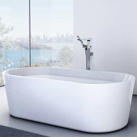 CAROMA AURA FREESTANDING BATH 1580X735X560MM