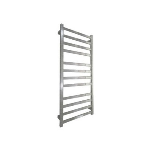 ELITE SQUARE HEATED TOWEL LADDER 1200X500MM BRUSHED FINISH