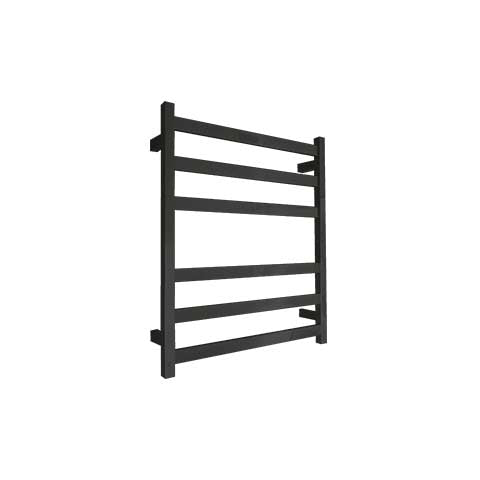 ELITE SQUARE HEATED TOWEL LADDER 600X500MM BLACK