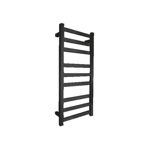 ELITE SQUARE HEATED TOWEL LADDER 900X400MM BLACK