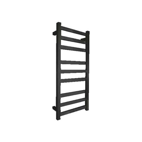 ELITE CUBE HEATED TOWEL LADDER 900X400MM BLACK
