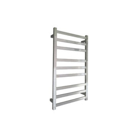 ELITE SQUARE HEATED TOWEL LADDER 900X500MM BRUSHED FINISH