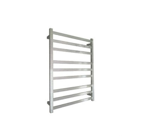 ELITE SQUARE HEATED TOWEL LADDER 900X650MM BRUSHED FINISH