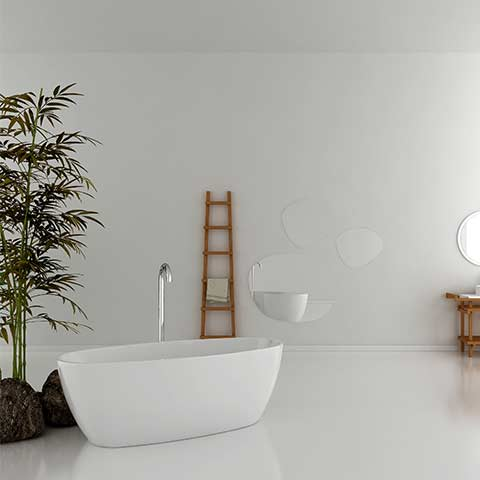 ELITE CERVO ACRYLIC FREESTANDING BATH 1700X800X580MM