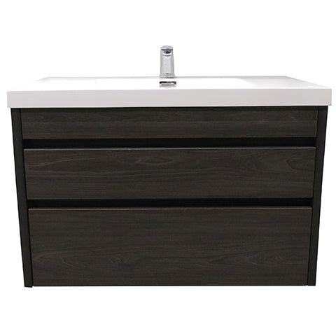 ELITE CUBE 900 2 DRAWER WALL HUNG STOCK VANITY & TOP, 4 COLOURS