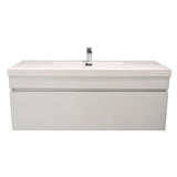 ELITE CUBE 1200 SINGLE DRAWER WALL HUNG STOCK VANITY & TOP, 4 COLOURS