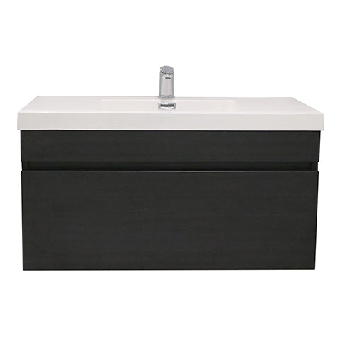 ELITE CUBE 900 SINGLE DRAWER WALL HUNG STOCK VANITY & TOP, 4 COLOURS