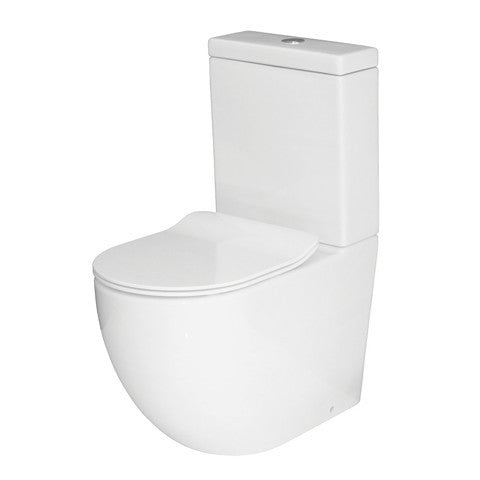 ELITE ZEN RIMLESS BTW TOILET SUITE - OVERHEIGHT