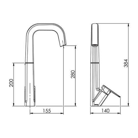 FELTON AXISS SINK MIXER BRUSHED NICKEL