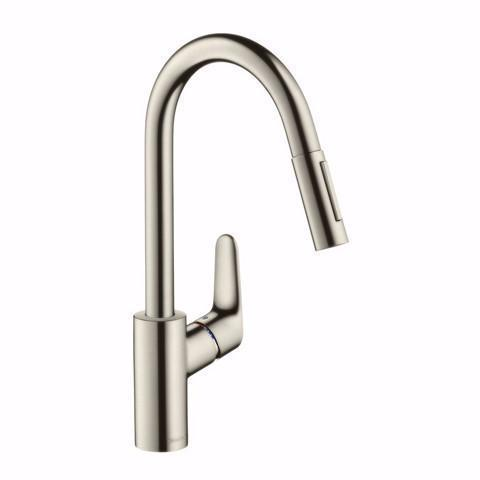 HANSGROHE FOCUS PULLOUT KITCHEN MIXER STAINLESS STEEL
