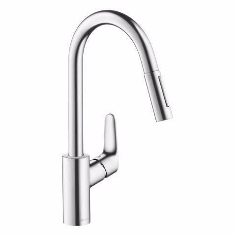 HANSGROHE FOCUS PULLOUT KITCHEN MIXER TITANIUM