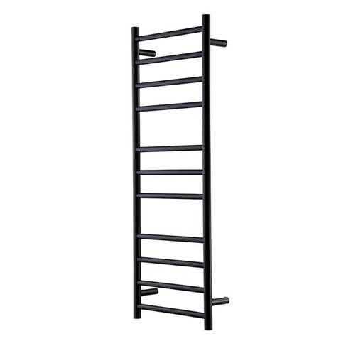 HEIRLOOM GENESIS NERO HEATED TOWEL LADDER 1220X460MM BLACK