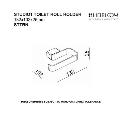 HEIRLOOM STUDIO 1 TOILET ROLL HOLDER BLACK