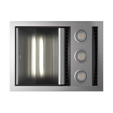 IXL TASTIC NEO VENT WITH SINGLE HEAT & LIGHT WHITE OR SILVER